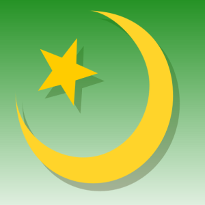Crescent moon symbol of Islam